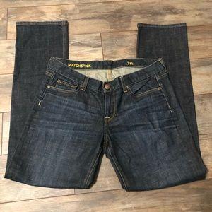 J. Crew Matchstick Dark Wash Jeans